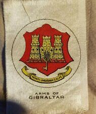 Vintage Tobacco silks silk Arms of Gibraltar castle