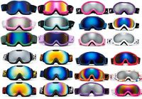 Kids Snow Ski Goggles Youth Goggles in Different Styles/Colors Pouch Included!!