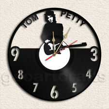 Tom Petty Wall Clock Vinyl Record Clock Upcycled Gift Idea
