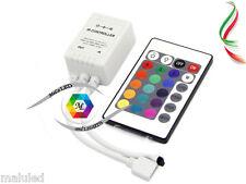 CONTROLLER RGB KIT TELECOMANDO STRISCIA LED 5050 3528 IR REMOTE CONTROL