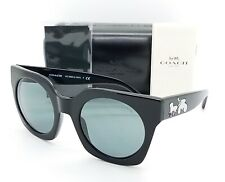New Coach sunglasses HC8250 (L1047) 500387 51mm Black Holographic Grey AUTHENTIC