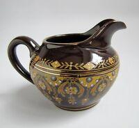 Ancien Pot à Lait Faïence Sarreguemines Décor Oriental émaillé Jugensthil 1900