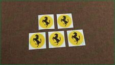 x5 Ferrari Wheel Center Cap Laminated Vinyl 51mm Decals Stickers Set Other Sizes