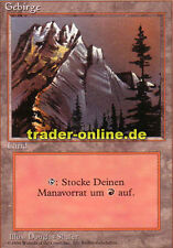Gebirge 1/3 (Mountain) Magic limited black bordered german beta fbb foreign deut