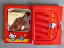 HELLO KITTY  POUSSETTE FLEUR SET MIROIR PEIGNE MIRROR COMB HAIR VINTAGE 1980