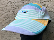 Patagonia Spoonbill Hat Cap Green Yellow Fitz Stripe Small Trout 5 Panel Duck