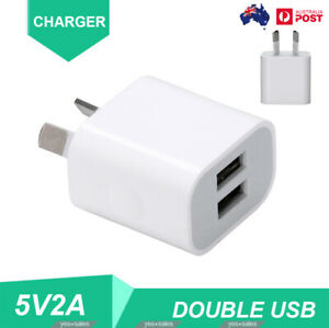 2A Dual USB Fast Charger Double USB 5V USB Power Adapter AU Plug For Phone iPad