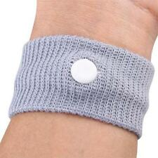 Pack of 4 SICKNESS Grey WRIST BANDS - - - -Adjustable Adult Children Motion Sick