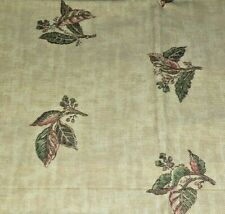 "Portfolio Textile Linen Fabric Beige Brown Apple Blossom Pattern 52""W x 1/2yd L"