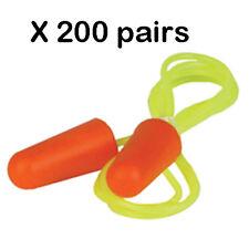 New Erb 03 C 200 Pairbox Orange Nrr 32db Disposable Corded Soft Foam Ear Plugs