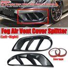 REAL Carbon Fiber Front Bumper Grill Fog Light Cover For Mercedes W20