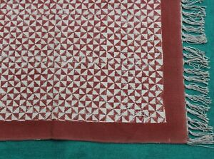 4x6 Hand Block Printed Cotton Area Rug Kitchen Mat Garden Flat weave Yoga Kilims