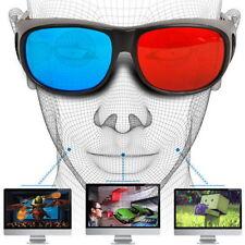 Universal Type 3D Glasses/Red Blue Cyan 3D glasses Anaglyph 3D Plastic GlassesXD
