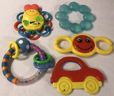 Learning Curve Infantino /Other Lot Teething Rattle Toy Car Seat Baby Travel