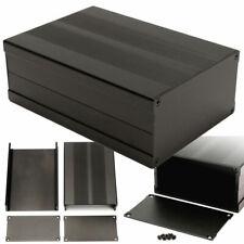 Black 150*105*55mm Aluminum PCB Instrument Box Enclosure Electronic Project Case