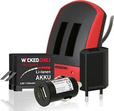Wicked Chili GoPro Hero4 6in1 Starter Set - Dual Ladegerät + 2 Akkus + Netzteil