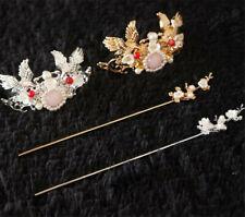 Lolita Girls Chinese Crane Headpiece Hair Crown Hairpin Hanfu Cosplay Headwear