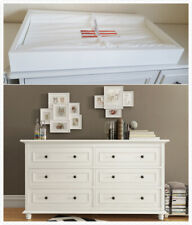 Beata 6 chest of  drawers with removable change table top in white