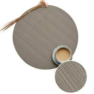 Round Woven PVC Placemats Bowl Cup Coaster Heat Insulation Pads Non-Slip Mats