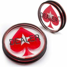 3-Inch Double-Sided Casino Clear Acrylic Poker Dealer Puck Button