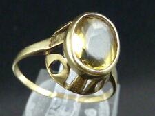 Damenring-333/Gold-mit Punze~1940- Turmalin-lemon,gelb,orange-Ringgr. 57/18,1mm