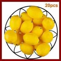 20x Lemon Lifelike Artificial Plastic Fake Fruits Imitation Home Party Decor Lot