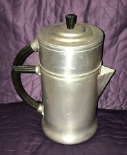 ART DECO  WEAR EVER  COFFEE POT  ALUMINUM  VINTAGE  956  WITH CORRECT LID