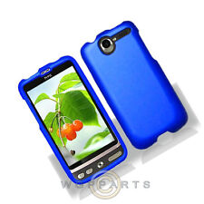 HTC ADR6275 Desire shield Blue Rubberized Case Cover Shell Protector Guard