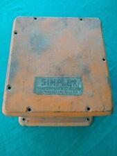 Vintage Simplex Watchmens Station Wallmount Wooden Box Antique Right Hand Hinge
