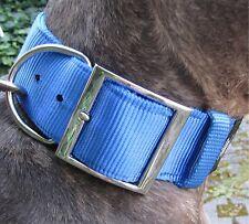 Collier En Nylon Bleu Allemande Bordeaux Dogge Bulldog Mastiff Rottweiler
