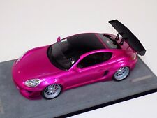 1/18 AB Models Porsche Cayman Rocket Bunny Flash Pink  on Alcantara Base B