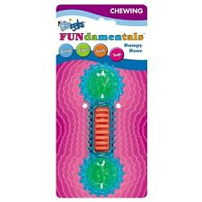 Grriggles Fundamentals Puppy Dog Bumpy Bone Chew Toy Blue Dental Fetch Floats