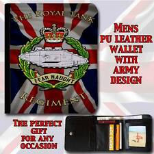 El Royal Tank Regiment ejército para hombre de imitación de cuero cartera papá Grandad Regalo