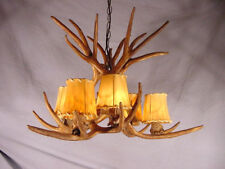 REPRODUCTION MULE ANTLER CHANDELIER Lights by CDN, 6 LIGHTS 11RS