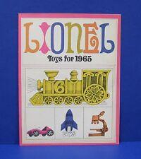 Lionel 1965 Consumer Catalog Mint NOS Original with Slot Cars