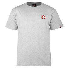 Powell Peralta Bones Swiss Small Logo Skateboard T Shirt Ash Large