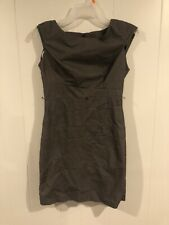 A Byer Womens Size 7 Brown Pencil Dress With Back Zipper