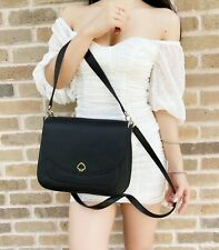 Kate Spade Kailee Medium Leather Flap Shoulder Bag Crossbody Messenger Black