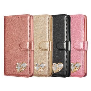Glitter Wallet Case For iPhone 12 11 Pro Max 8 7 6 XR XS Card Leather Flip Cover