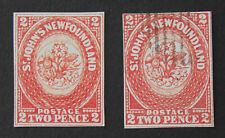 NEWFOUNDLAND 1857 2p, SG 2 , Unused & Used,  COPY / REPLICA