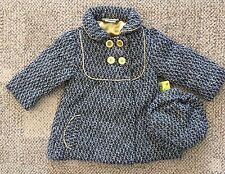 Penelope Mack Toddler Size 2T Girls Dress Coat Hat Black/White Houndstooth Lined