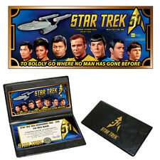 Star Trek 50th Anniversary U.S.S. Enterprise Crew 24k Gold Aurum