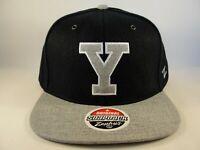 Yale Bulldogs NCAA Zephyr Snapback Hat Cap Navy Gray