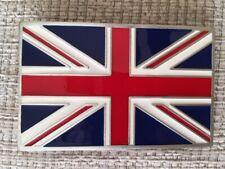 Union Jack belt Buckle (Square Edges) Pewter