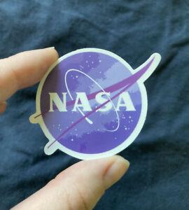 1 Pc Sticker - NASA Logo Design - SHIPPED W/ POSTAGE STAMP IN U.S.