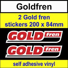 2 Gold Fren sponsor stickers 200mm Goldfren scooter bike motorcycles car decals