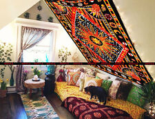 Psychedelic Trippy Tapestries Wall Hanging Sun Moon 100% Cotton Twin Bedspread