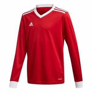 Boys Adidas Tabela 18 Youth Soccer Jersey Long Sleeve Training Top NEW