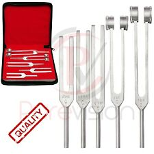 Medical TUNNING SET TUNING FORK Diagnostic ENT Quality Aliminium CE *5Pcs SET*