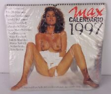 calendario max 1997+rivista max dicembre 1996 nuovo sigillato! new factory saled